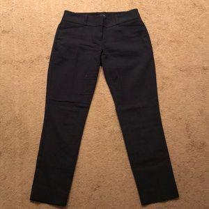 Ankle length navy pindot pants